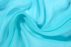 Blue crepe de chine fabric Stock Photos