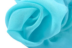 Blue crepe de chine fabric Stock Image