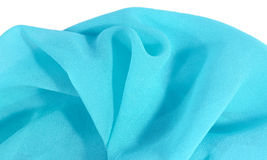 Blue crepe de chine fabric Stock Photo