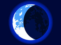 Blue crescent moon Royalty Free Stock Images