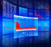 Blue Crisis Stock Diagram with Background Data Stock Images