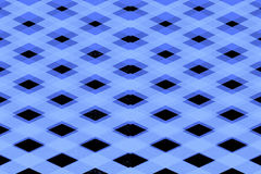 Blue criss cross squares pattern Stock Photo