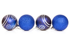 Blue cristmas baubles Royalty Free Stock Image