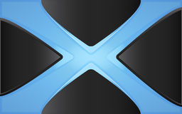 Blue cross. Abstract image of blue cross Stock Photos