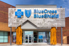 Blue Cross Blue Shield Exterior and Logo Royalty Free Stock Photography