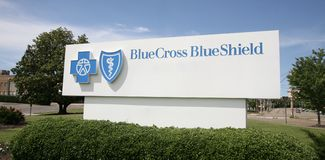 Blue Cross Blue Shield Health Insurance Company Imágenes de archivo libres de regalías