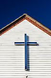 Blue cross/crucifix Stock Photo