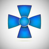 Blue Cross, illustration of a military medal Royalty Free Stock Photography