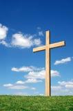 blue cross niebo obraz royalty free