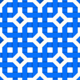 Blue crossed ribbons. Seamless pattern Royalty Free Stock Photos