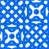 Blue crossed ribbons. Seamless pattern Stock Photography