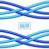 Blue crossing cables on white background. Blue vector crossing cables on white background Royalty Free Stock Photos