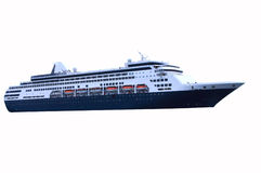 Blue Cruise Ship. Cruise ship with blue hull color stock images