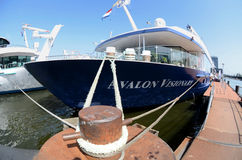 Blue cruise ship Stock Image