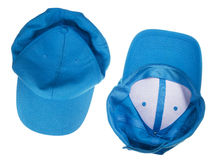 Blue crumpled  cap Stock Image