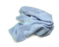 Blue crumpled duster Stock Photography