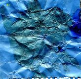 Blue Crumpled Paper Royalty Free Stock Photo