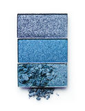 Blue crushed eyeshadow for makeup as sample of cosmetic product Stock Photo
