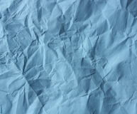 Blue crushed paper Royalty Free Stock Photography