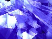 Blue crystal Stock Photos