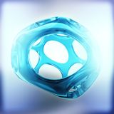 Blue crystal abstract. Jewelry concept. 3D rendering Royalty Free Stock Images