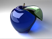 Blue Crystal Apple Stock Photography