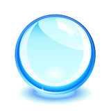 Blue crystal ball Stock Photo