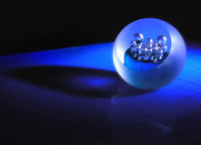 Blue crystal ball Royalty Free Stock Image