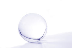 Blue crystal ball Stock Image