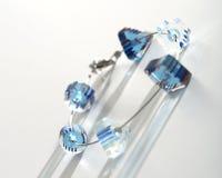 Blue crystal bead bracelet Royalty Free Stock Images