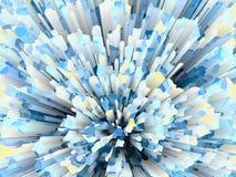 Blue crystal burst abstract texture Stock Photos
