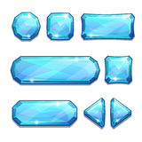 Blue crystal buttons Stock Image