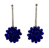 Blue crystal cluster earrings Stock Photo