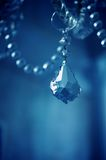 Blue crystal details Royalty Free Stock Images