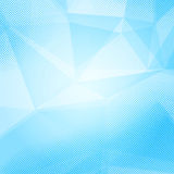 Blue crystal and dot bright layered background Royalty Free Stock Images