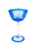Blue Crystal Glass Five Stock Photography
