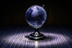 Blue crystal globe Stock Photo