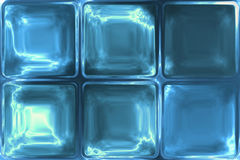 Blue crystal ice icy glass tiles abstract texture Royalty Free Stock Photography