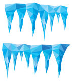 Blue crystal icicles, vector  Royalty Free Stock Photo