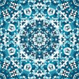 Blue crystal kaleidoscope pattern Stock Images