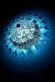 Blue crystal luster Royalty Free Stock Photo