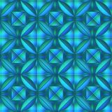 Blue crystal patten Stock Photo