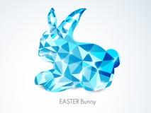 Blue crystal rabbit for Easter celebration. Shiny blue crystal rabbit for Happy Easter celebration on grey background Stock Images