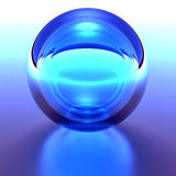 Blue Crystal Sphere Stock Image