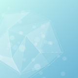 Blue crystal structure editable background Royalty Free Stock Photography
