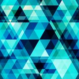 Blue crystal vector seamless pattern Stock Photos