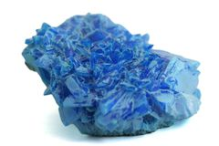 Blue crystal2. Blue mineral crystal, isolated picture Stock Photos