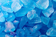 Blue crystals. Of bath salt Royalty Free Stock Photo