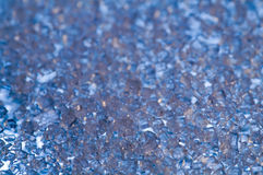 Blue crystals background. In perspective Royalty Free Stock Image