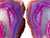blue crystals geode pink Στοκ Φωτογραφία